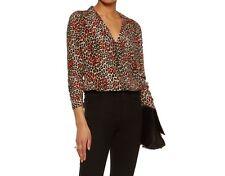 613d4a339009 NWT Equipment Adalyn Leopard Heart Print Silk Shirt Natural Ginseng Sz XS  $258