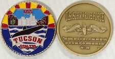 USS Tucson SSN 770 Submarine Challenge Coin Sub Force