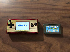 Game Boy Micro 20th Anniversary Edition Red & Gold System+ Super Mario Advance 2