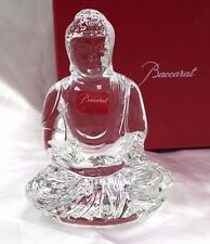 BACCARAT CRYSTAL BUDDHA statue figurine small   BOUDDHA Bouddhisme NEW IN BOX