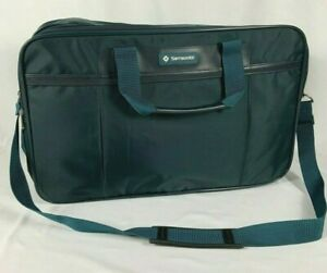 Samsonite Soft Travel Suit Case Laptop Bag Footed Turquoise