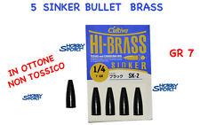 SINKER BRASS 7  GRAMMI   1/4 BULLET  TEXAS E CAROLINA RIG