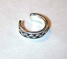 Sterling braided silver wire ear cuff