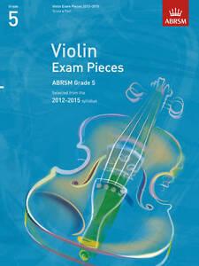 Violin Exam Pieces 2012-2015, ABRSM Grade 5, Score & Part