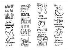 Art Borders -He Directs - Faith/Bible Journaling - Self Adhesive strips