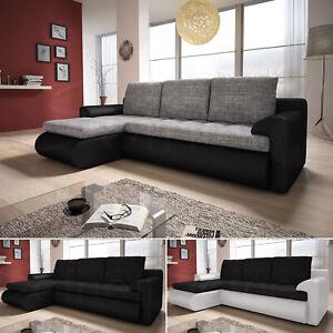 Ecksofa Santi - Polsterecke, Schlafsofa mit Schlaffunktion, Couchgarnitur, Sofa