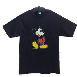 vintage walt disney mickey mouse shirt adult large black usa mens 80s rare