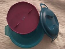 TUPPERWARE MICROWAVE RICE COOKER STEAMER OATMEAL PASTA MAKER AQUA RHUBARB
