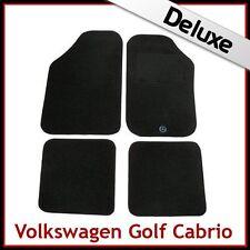 For VW Golf Mk1 Cabrio 1979-1993 Tailored LUXURY 1300g Carpet Floor Mats BLACK