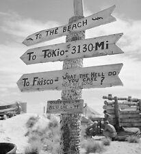 "Marines make a sign on Tarawa South Pacific 8""x 10"" World War II WW2 Photo 506"