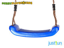 SWING SEAT BLUE Plastic Set With Rope Accessories Playground  Outdoor Kids