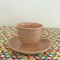 Fiestaware Apricot Teacup and Saucer Fiesta Retired Peach Pink Tea Cup
