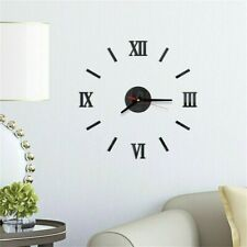 Modern Diy Large Wall Clock 3d Wall Sticker Frameless Watch Home Room Decor #2