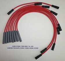 CHEVY/GMC TRUCKS 1996-2000 7.4L 454 2500HD-3500 PICKUP Red 8mm Spark Plug Wires