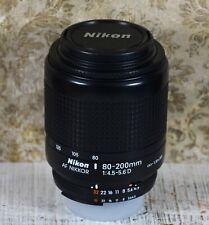 Nikon AF Nikkor 80-200 mm Lente zoom 1:4. 5-5.6 D en muy buena condición