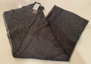 NEW Bloomingdales Mens Wool Cashmere Blend Knit Scarf Gray $128 NWT