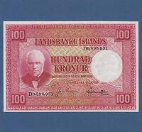 ISLAND / ICELAND  100 Kronur L.1928  Sig.4  UNC  P. 30 e