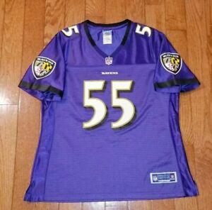 TERRELL SUGGS #55 Baltimore Ravens NFL Reebok Jersey Womens LARGE  Purple