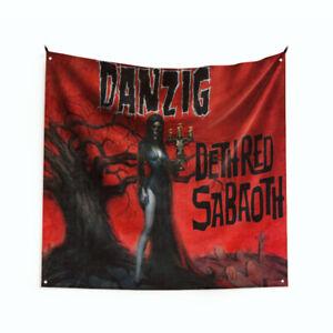 "Danzig ""Deth Red Saba"" Art Music Album Wall Hanging Tapestry Flag 3x3ft/ 4x4ft"