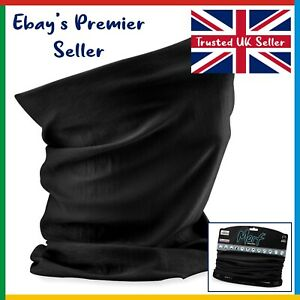 BLACK Beechfield - 3 in 1 Face Cover Morf - Snood Scarf Neck - Breathable Mask