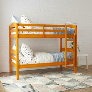 Better Homes & Gardens Leighton Wood Twin-Over-Twin Bunk Bed, Pine