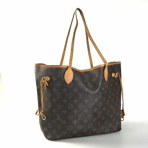 100% authentic Louis Vuitton Neverfull MM M40156 tote bag Used 1181-12N77