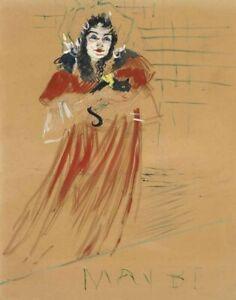 Henri De Toulouse Lautrec Miss May Belfort Canvas Print 16 x 20      #3586