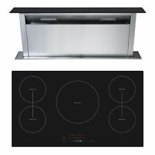 Cookology 90cm Touch Control Induction Hob & Downdraft Extractor