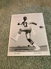 1980s Dallas Cowboys Ron Fellows Signed Football Team Issue Mizzou Tigers