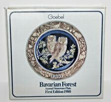 Vintage Goebel Bavarian Forest Annual Stoneware Plate First Edition 1980