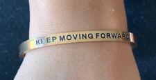 Forward Rose Gold Tone Bangle Bracelet Lillian & Co Inspiration Keep Moving
