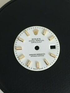 Rolex White Stick Dial Ladies 26mm Datejust Watch 69173 179173 Steel and Gold