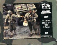 Verlinden 1:35 US Infantry Officers ETO WWII 2 Resin Figures Kit #1358