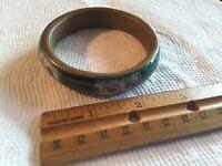 Malachite Green Round Bracelet, Brass inside