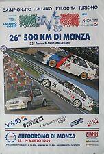 More details for bmw m3 ford sierra xr4i 500 km monza super turismo  poster 100cm x 70cm 1989