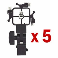 5pcs 3-way Staffa per flash Speedlite STATIVO Lightstand Mount