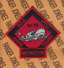 USAF 1st Reconnaissance Squadron RS RQ-4 HAWK TAMER NRO NSA 3.75 inch patch