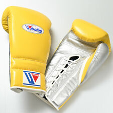 Winning Boxing gloves Lace up 16oz Yellow x Silver from JAPAN FedEx tracking NEW