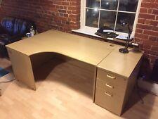Large corner desk + matching drawer unit - VGC! Computer desk or work desk