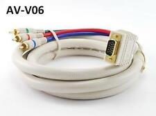 6' VGA Premium Male to Component 3RCA Male Cable for HD Projectors w/ VGA Input