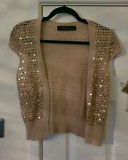 Lovely Ladies Size 10-12 Gild Sparkly Sequin Shrug Bolero