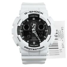 Casio G-Shock Mens Wrist Watch GA100L-7A GA-100L-7A  Analog-Digital White/Black