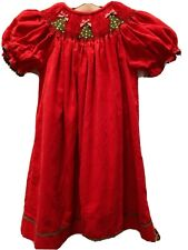 Christmas smocked Dress size 3T