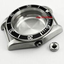 41mm Watch Case Black Bezel Fit ETA 2836,Mingzhu 2813,Miyota 82series P701
