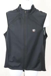 Pearl Izumi Gavia Vest Mens Sz XL Half  Zip Up Black Pockets Windbreaker Lined