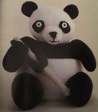 Ct4 - Knitting Pattern For Panda Bear - Children's Toy