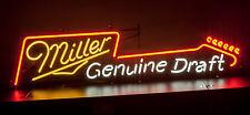 1980's Miller MGD GUITAR  neon sign, Miller Brewing, Milwaukee, Wis - Beer exc