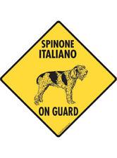 Warning! Spinone Italiano On Guard Aluminum Dog Sign and Sticker