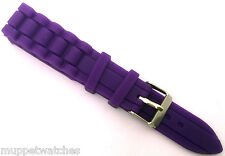 22mm Silicone Rubber Replacement Strap Band for Ice Fossil Style Watch with PINS