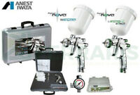 KIT 2 SPRAYGUN ANEST IWATA EVO 1.3mm LS400 WS400 BASE CLEAR PININFARINA SUPERNOV